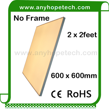 Ultra-thin square 2 years warranty high output 600x600 led panel