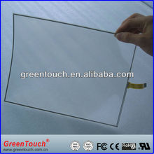 22 inch 4 wire resistive film to film and touch screen flexible foil film with USB/RS232