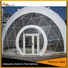 fire retardant special design 5M half sphere tent on promotion