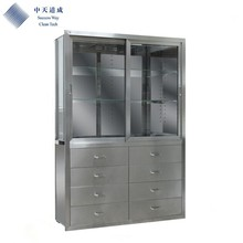 steel cabinet with drawers in hospital