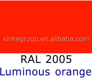 Luminous orange Epoxy Powder Coating RAL2005