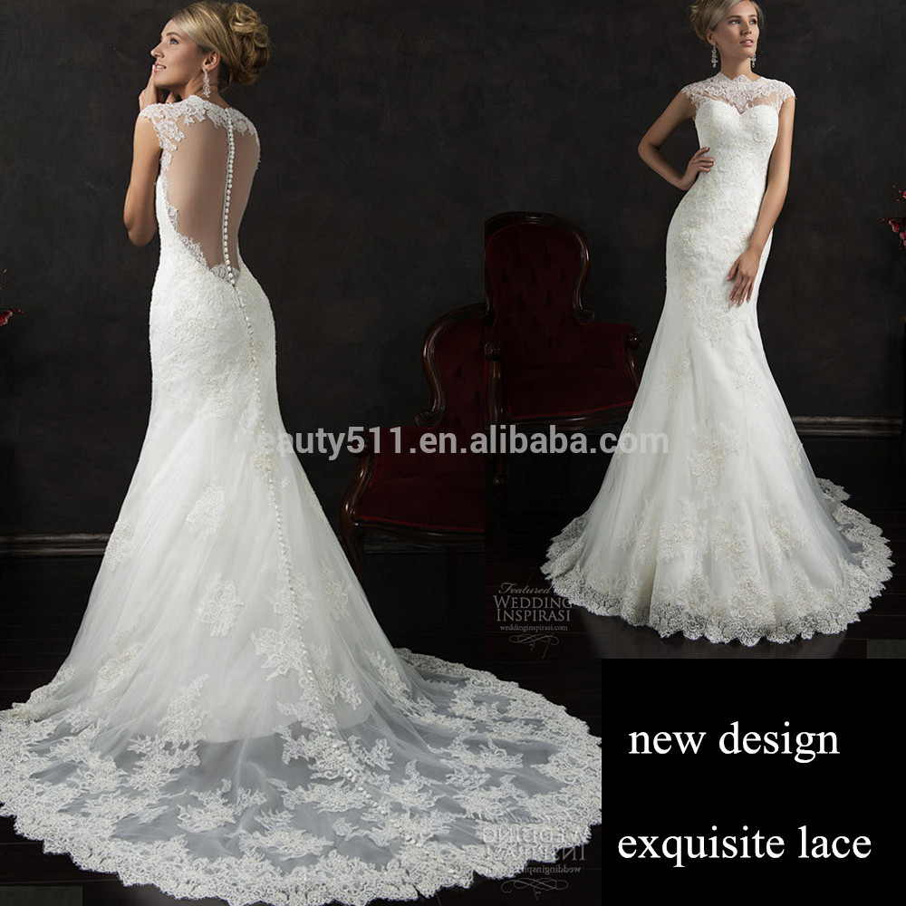 Latest Designs 2019 Sexy Mermaid Strapless Floor-length Lace Wedding Gowns Z654