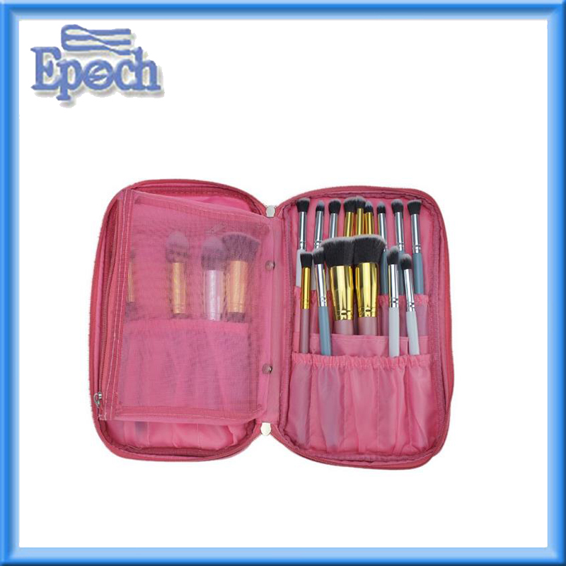 Multifunctional promotional makeup brushes cosmetic case for travel&home use