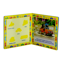 professional printing childrens board book with magnet sticker
