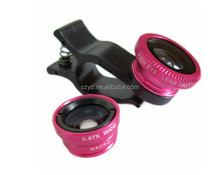 3in1 Fish Eye+Wide Angle+Macro Camera Clip Lens For Samsung Galaxy S3 S4 S5 S6 Note 2 3 4