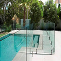 10mm,12mm,5+0.76+5mm,6+0.76+6mm tempered glass fence panels for swim pool fence