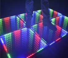 3D magic Mirror LED Dance Floor Tiles for hotel home disco event