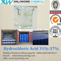 Hydrochloric Acid 31% 32% 33% 35% Synthetic Grade (not By-Product)