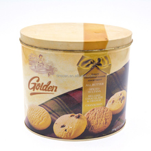 Custom food-grade oval shape biscuit tin packing box, oval butter cookie tin box ,candy tin can for food wholesale