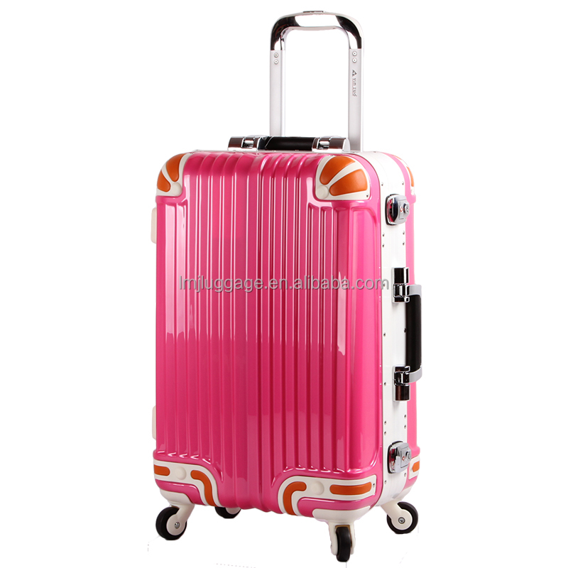 trolley travel luggage suite case for girls abs pc material durable