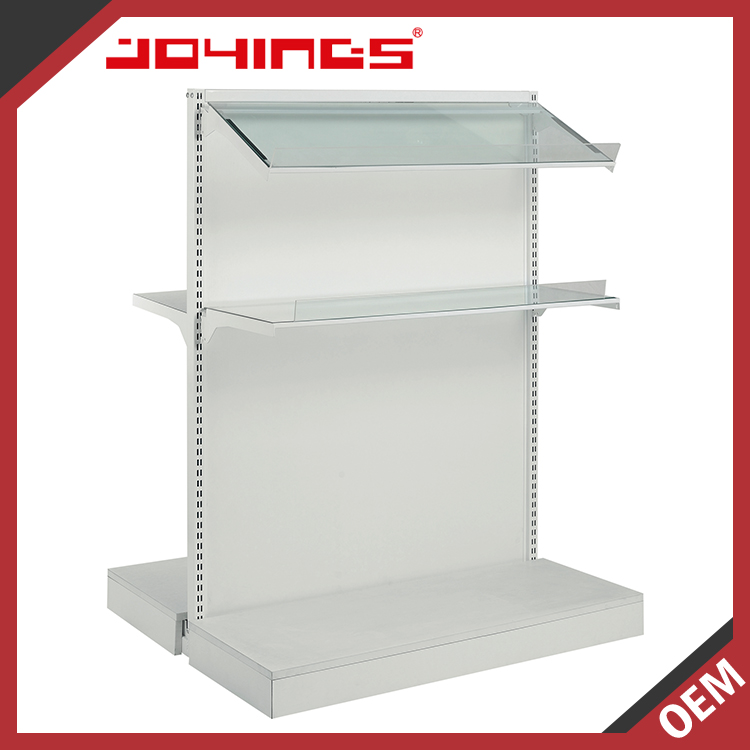 Floor Standing Double Sided Shelving System for Mini Mart