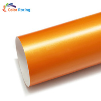 High glossy bright PVC material auto Magic golden orange vinyl wrap for car with best quality