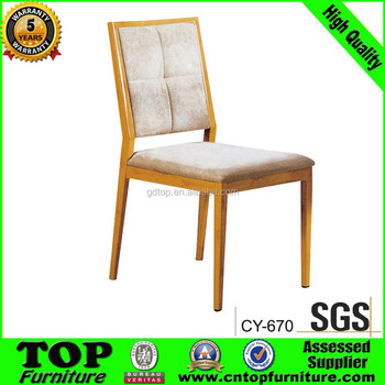 New Style Classy golden frame metal dinning chair