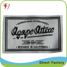 inspected China company intelligently produce cloth neck label with both folded for American style's garments