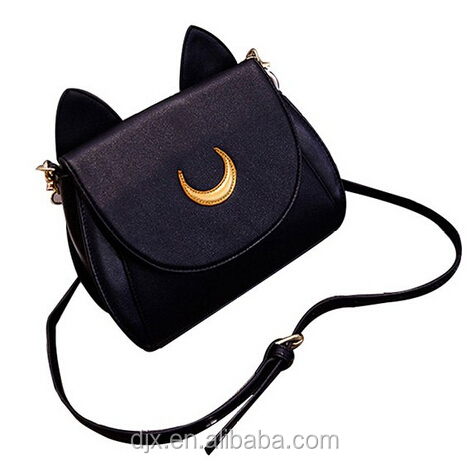 2016 new design cat shape girls bag / high quality PU shoulder bag