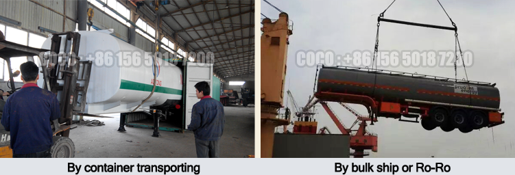 Shock price 3 axles 35000L-60000L crude oil transport tank trailer fuel tanker semi trailer for sale