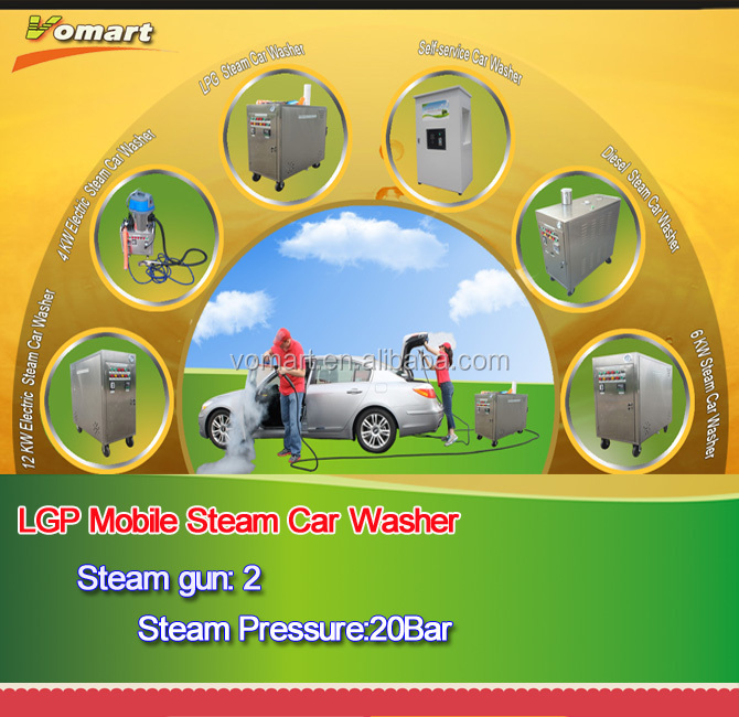 CE two gun steam car washer machine price/Steam power jet cleaner