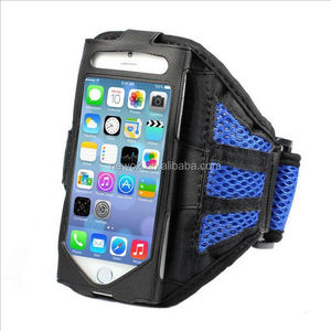 Diving fabrics material LED running sports arm bags for mobile phone