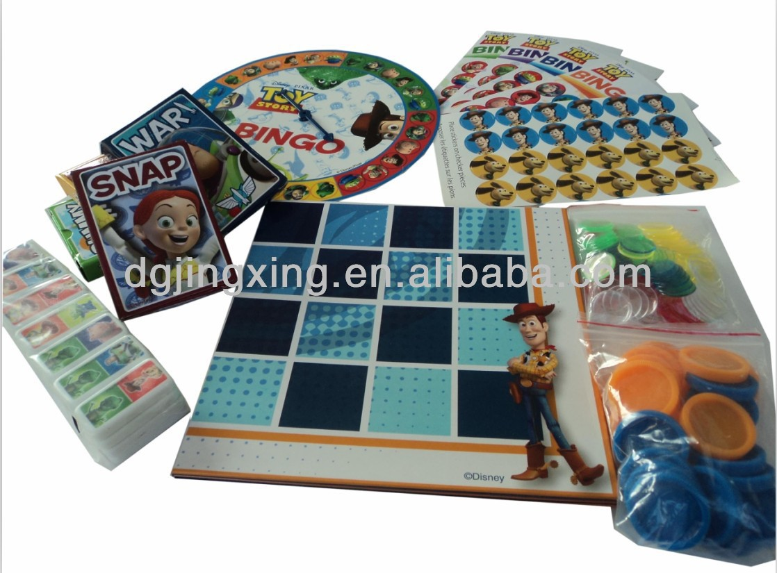 hot sell Woody Toy story of 8 paper game set