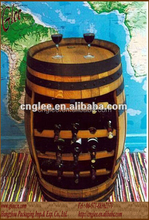 Funky Barrel Type wood wine rack display