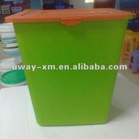 UW-FSC-022 Accept customer printing 15kg green plastic pet food container,pet food storage tin