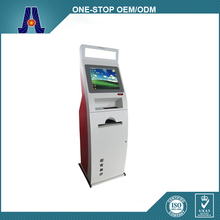 bill acceptor dual payment terminal touch kiosk,self-service terminal with thermal printer