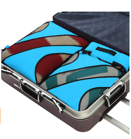 2017 4 Set Packing Cubes,Travel Luggage Packing Organizers with Laundry Bag