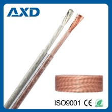 AXD hot selling high end transparent 2 core speaker cable