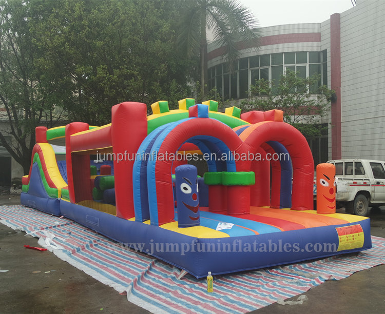 Indoor Obstacle Course 14m long Inflatable air obstacle house rental kids toys