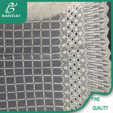 Transparent nylon net tartan organic cotton mesh fabric