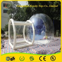 1.0mm thickness PVC inflatable bubble tent, durable custom camping tent, beautiful lgloo clear tent for sales