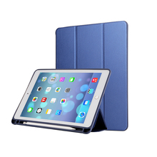 Multi-functional PU Leather Smart Case for new iPad 9.7 inches 2018 with pencil socket