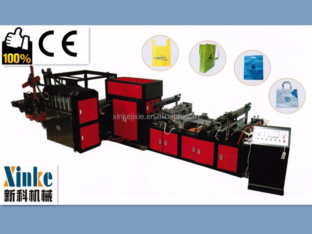 High speed non woven reusable bag making machine with auto handle
