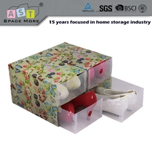 China best choice best sale plastic pp draw shoe box with drawer