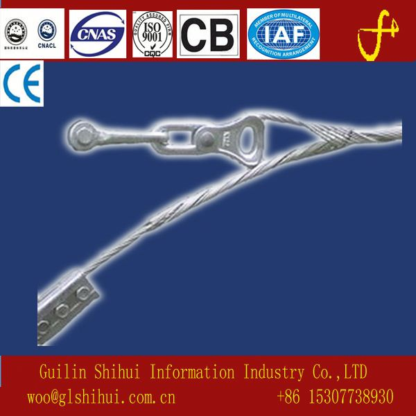 adss Ground Wire Tension Set/GAVALVANIZED STEEL Dead-end Guy Grip For Steel cable Stay wire or Stran