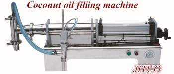 semi-automatic coconut oil filling machine