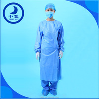 OEM Factory Product SMS/Non-woven Medical Clothing Sterilized Disposable Surgical Gown