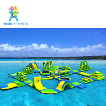 Cheap giant adult inflatable water obstacle course for sale