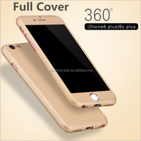 New&Hot Sale High Quality! Hard Plastic Electroplate 360 Degree Full Cover Case For iPhone6/6S/6 PLUS/6S Plus