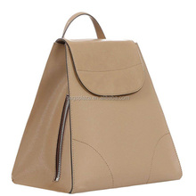 MD6052 Fashion plain beige large ladies backpack leather