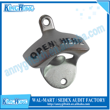 Open Here Wall Mount Bottle Opener