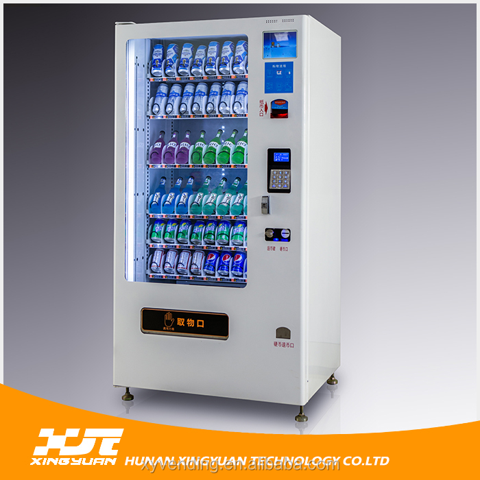 Competetive prive automatic Fresh milk drink and snack vending machine hot sale