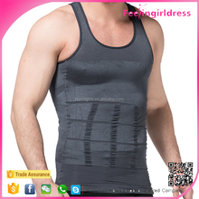 Wholesale Grey Body Shaper Slimming Undershirts Picture of Vest For Man