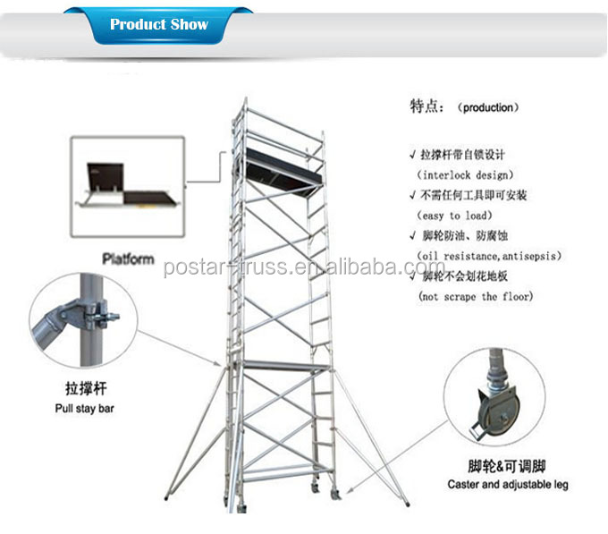 Types Of Portable Scaffolding : Portable types of scaffolding material aluminum scaffold