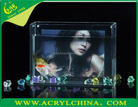 Acrylic fish tank with photo frame acrylic fish aquarium fish tank
