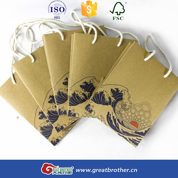 wholesale custom factory made craft paper bag