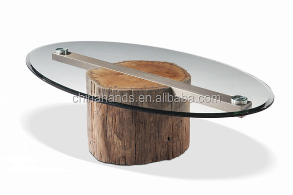 MA-CT007 Solid Wood With Tempered Glass Top Table