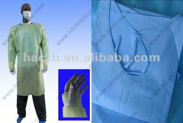 nonwoven isolation gown,disposable isolation gown(CE,ISO,FDA)