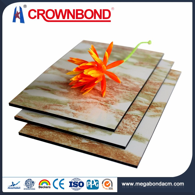Crownbond Quality Guarantee Aluminum ACP/ACM wall panel stone cladding interior