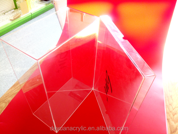 Top Grade Custom Transparent Acrylic Shoe Box For Showcase